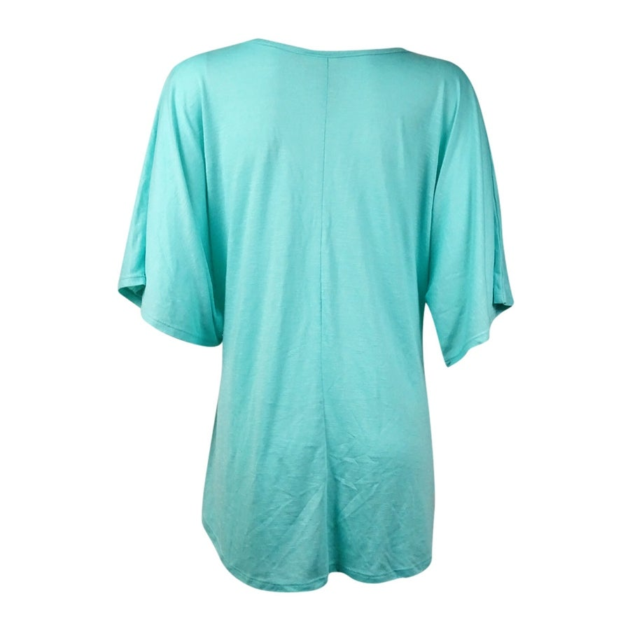 df490064 Shop Miken Women's V-Neck Graphic Tee Knit Swim Cover (S, Mint) - Mint - S  - On Sale - Free Shipping On Orders Over $45 - Overstock.com - 14681126
