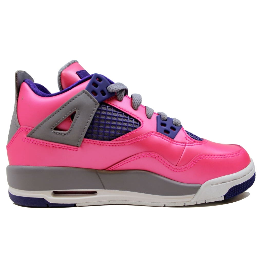 90129f22b099 Shop Nike Grade-School Air Jordan IV 4 Retro Pink Foil White-Cement  Grey-Electric Purple 487724-607 - Free Shipping Today - Overstock - 20138849