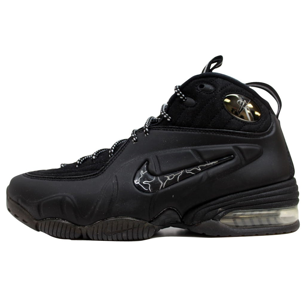 34da833db51a Shop Nike Men s 1 2 Cent Black Black-Metallic Silver Penny 344646-001 Size  8 - Free Shipping Today - Overstock - 19507845