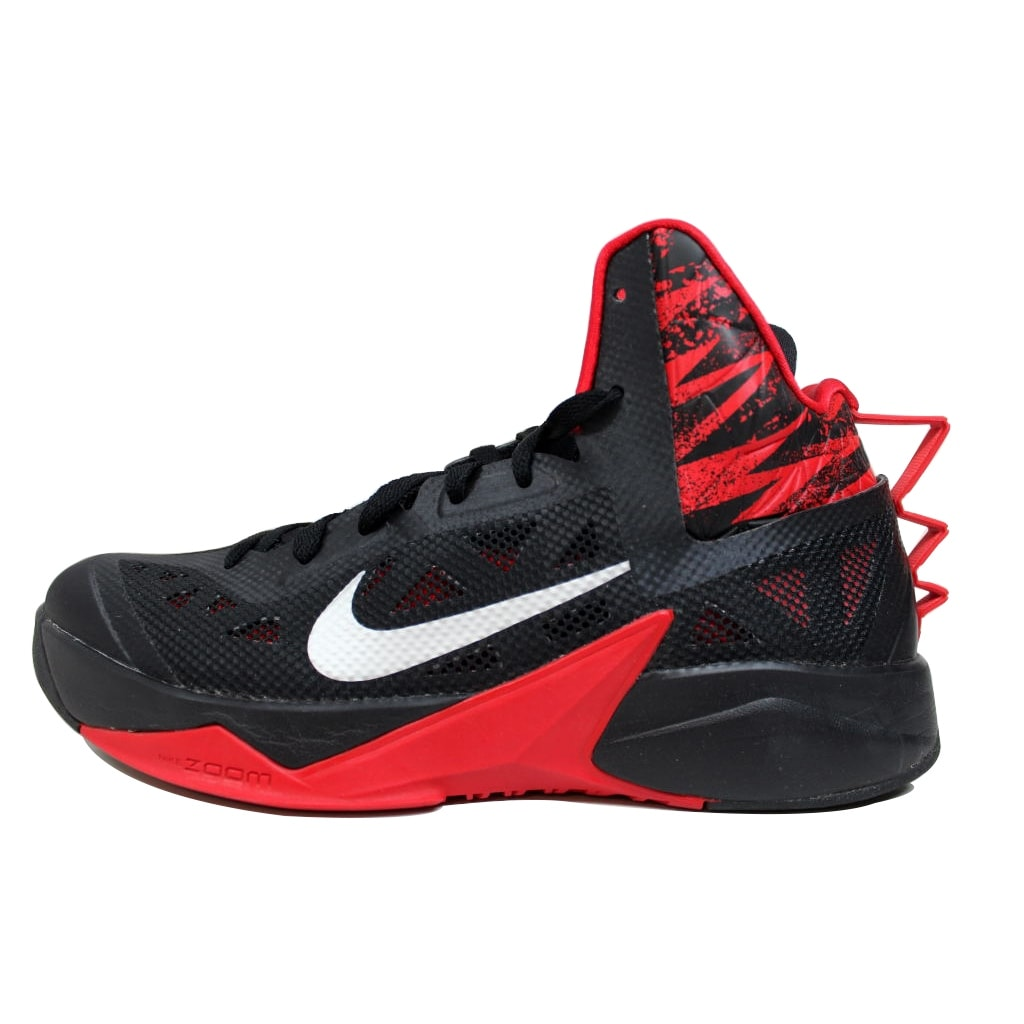 best service a49f6 3aabe Shop Nike Mens Zoom Hyperfuse 2013 BlackMetallic Silver-University Red  615896-001 Size 10.5 - Free Shipping Today - Overstock - 20138996