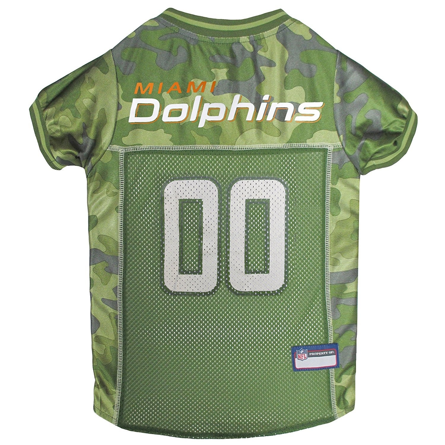 0c013dd17 Shop NFL Miami Dolphins Camouflage Pet Jersey For Dogs & Cats - On Sale -  Free Shipping On Orders Over $45 - Overstock - 19991305