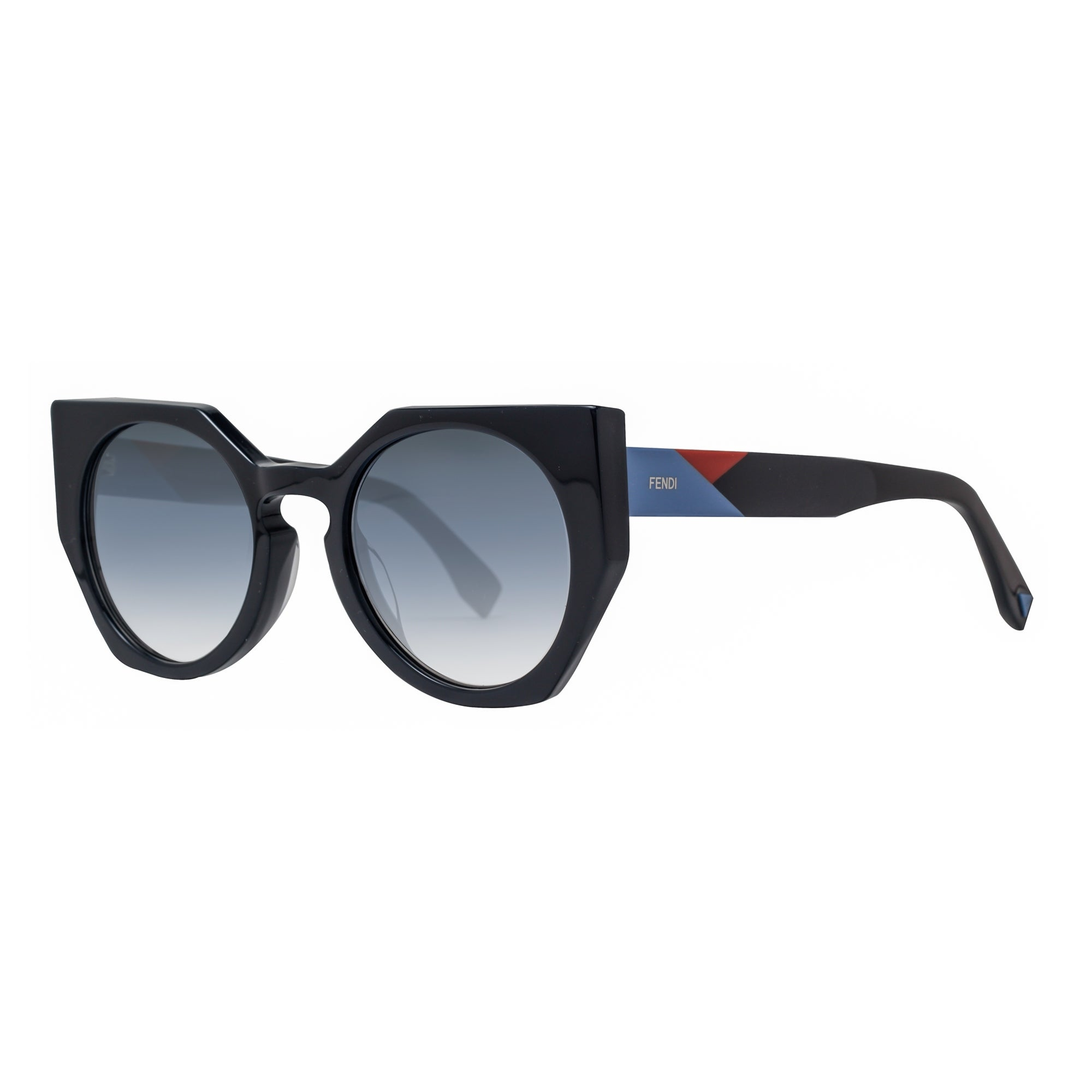 bce19493f56 Fendi FF 0151 S PJPU3 Facets Geometric Black Gradient Women s Cat Eye  Sunglasses - Blue - 51mm-22mm-140mm