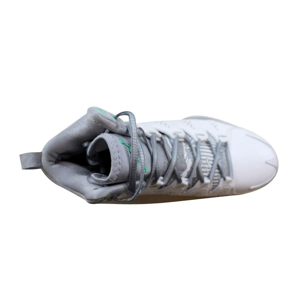 e8bfb9414095b0 Shop Nike Men s Air Jordan Melo M10 White Green Glow-Wolf Grey-Cool Grey  629876-105 - Free Shipping Today - Overstock - 22340291