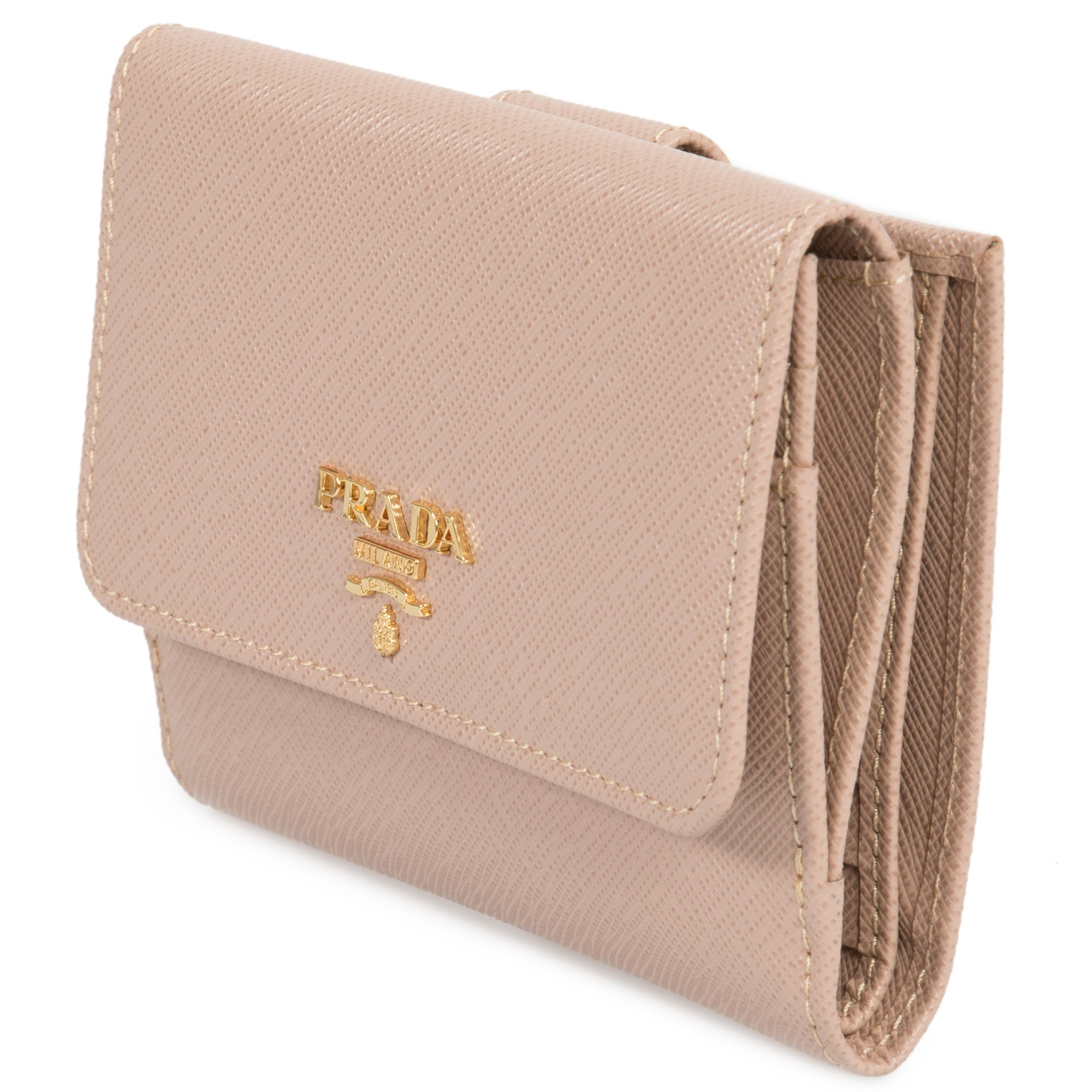 5dd447c6dc29 Shop Prada Cameo Saffiano Leather Flap Wallet 1MH523 QWA F0770 - Free  Shipping Today - Overstock - 23084016