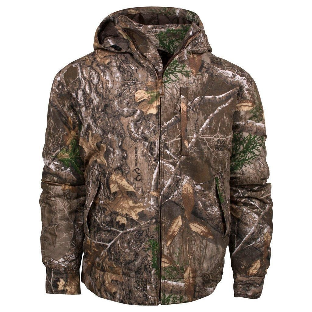 9e0eca5a8aeeb Shop King's Camo Realtree Edge Classic Cotton Insulated Hooded Ripstop  Jacket - Ships To Canada - Overstock - 23535337