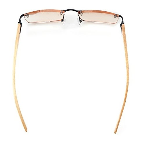 50783ba7bc59 Shop Eyekepper Readers Spring Hinges Wood Arms Rimless Eyeglasses Black  Amber Tinted Lenses+2.75 - Free Shipping On Orders Over  45 - Overstock -  15913799