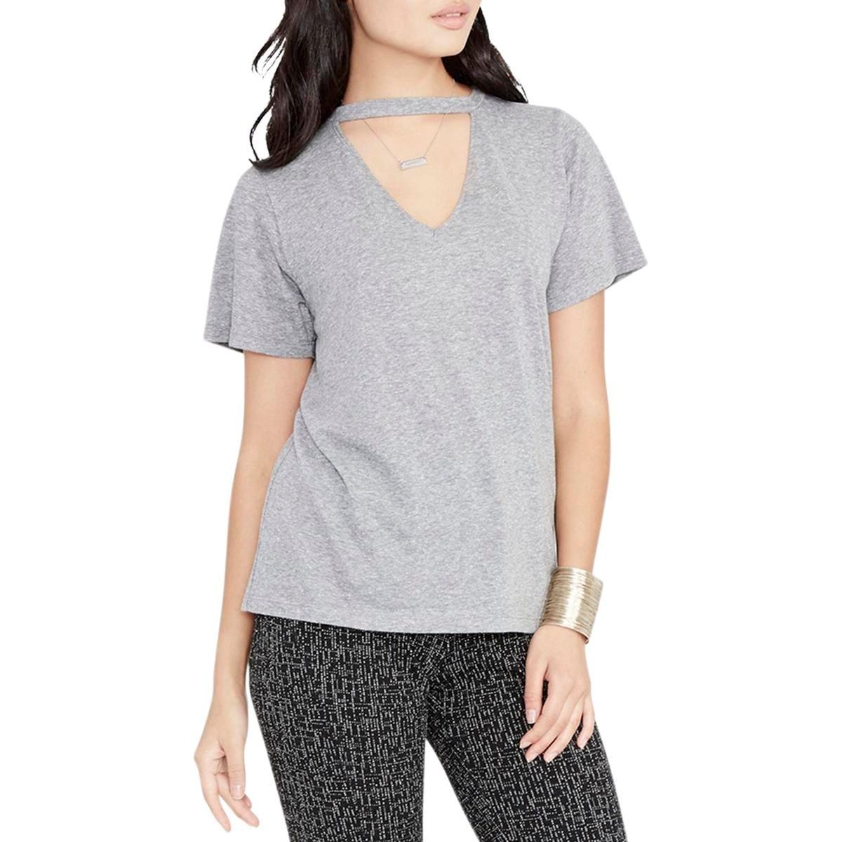 0eaef39cb61ef9 Shop Rachel Rachel Roy Womens Choker T-Shirt V-Neck Textured - Free ...