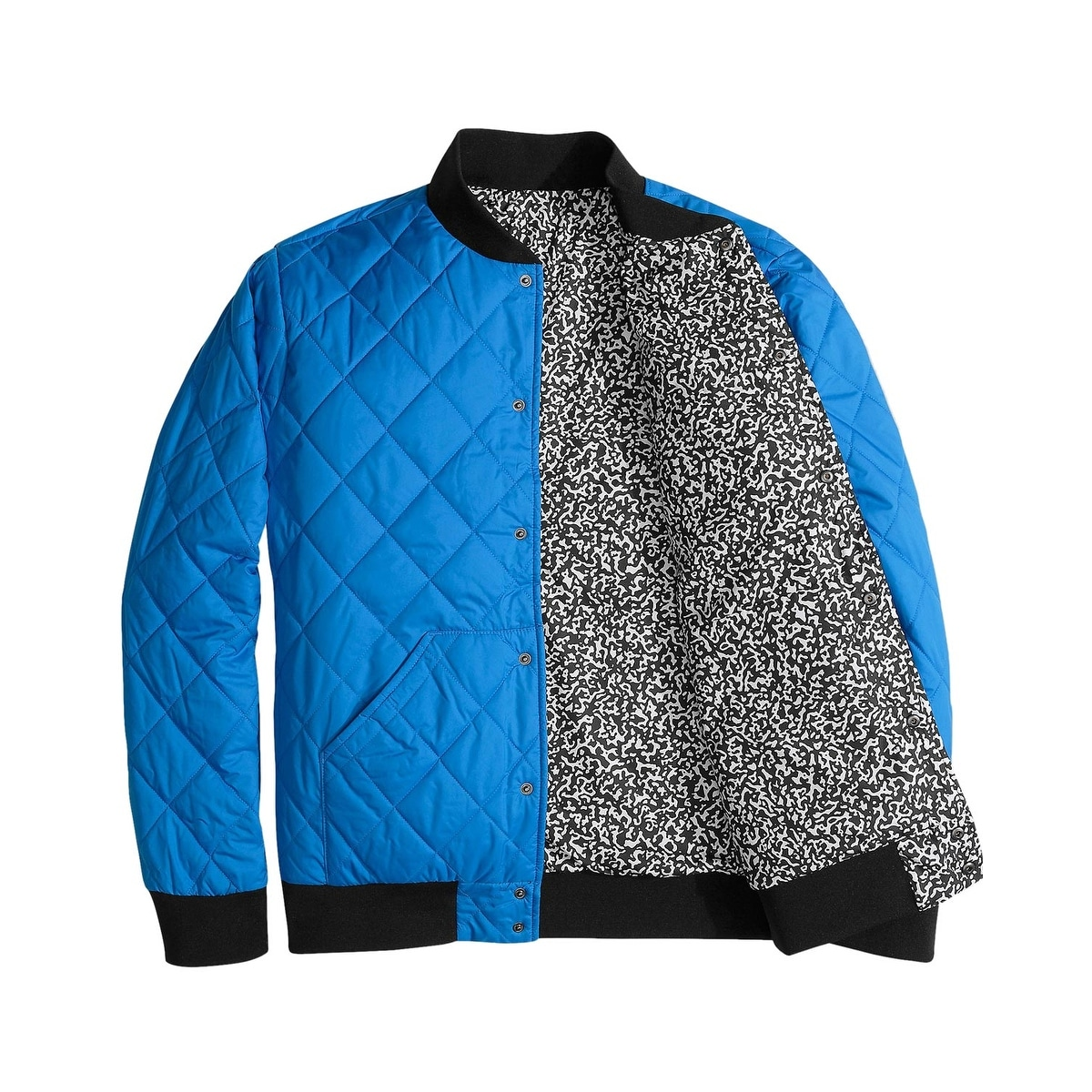 06ee7a98e The North Face Jester Blue Reversible Quilted Bomber Jacket XX-Large