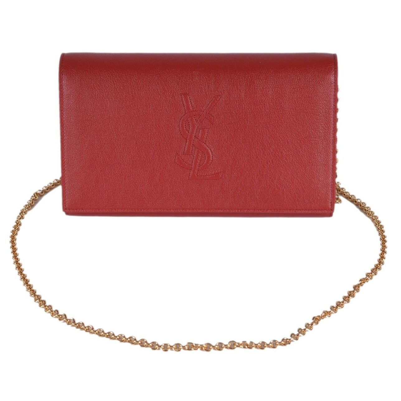 Shop Saint Laurent YSL Red Leather Belle de Jour Crossbody Wallet Purse Bag  - On Sale - Free Shipping Today - Overstock - 26263320 db18198680e5b