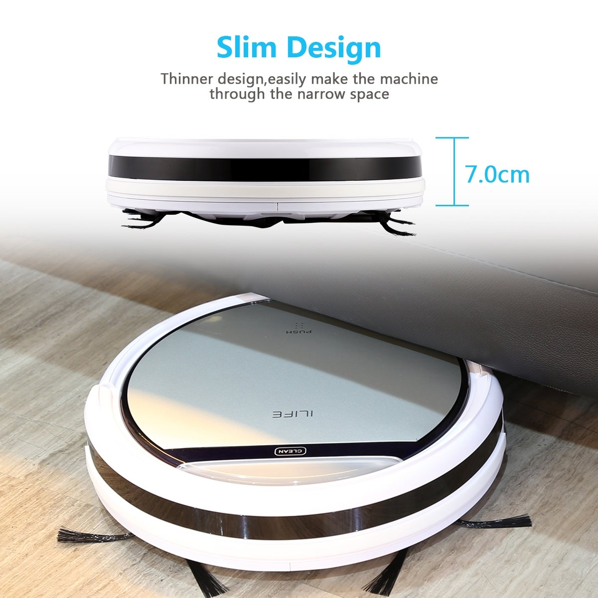 ILIFE V5 Smart Cleaning Robot Floor Cleaner Auto Vacuum Microfiber Dust  Cleaner Automatic Sweeping Machine - LIGHT GOLDEN