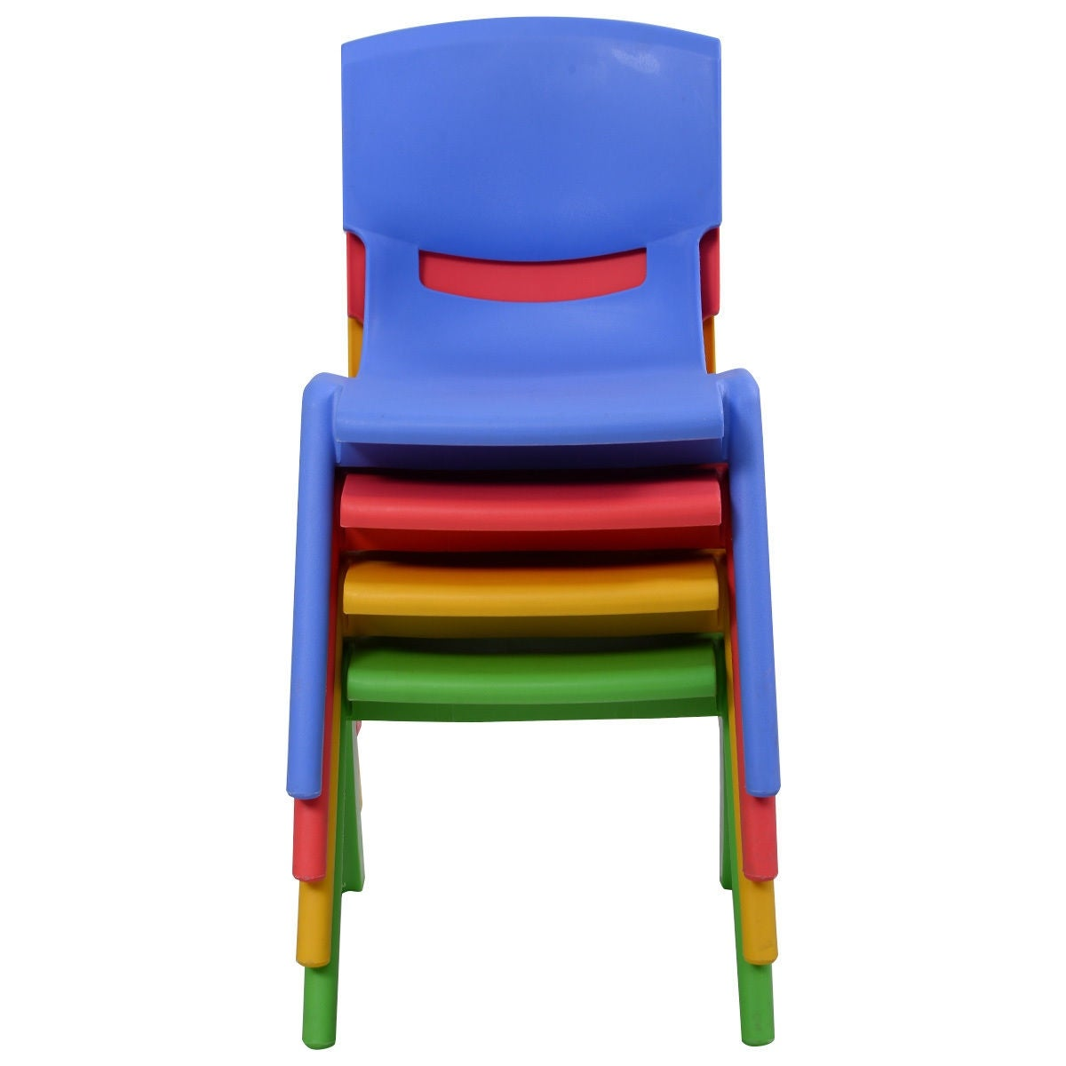 Costway Set Of 4 Kids Plastic Chairs Stackable Play And Learn Furniture  Colorful   Free Shipping Today   Overstock.com   23535017
