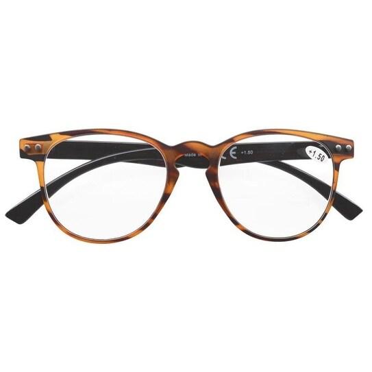 ada18151edc Eyekepper Round Full Coverage Ultrathin Flex Frame Reading Glasses Amber  +2.75 - Free Shipping On Orders Over  45 - Overstock - 21672619
