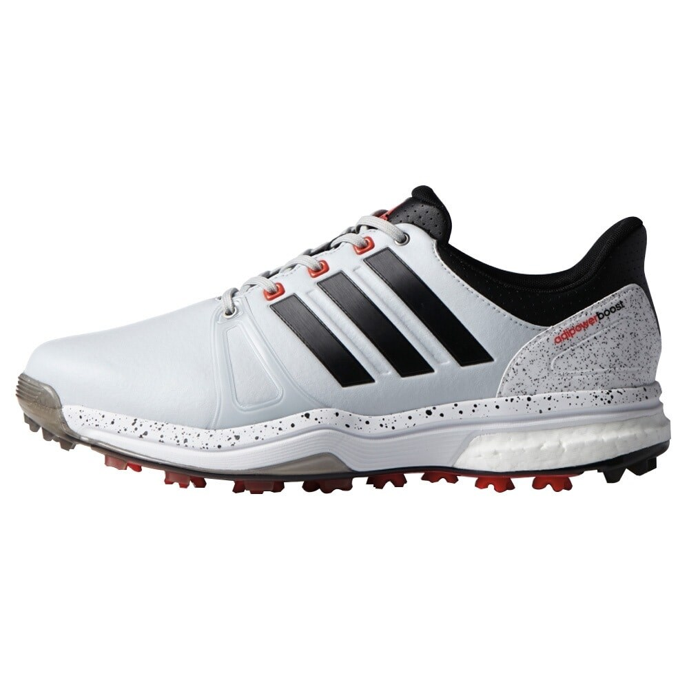 ae8841b6ad10 Shop Adidas Men s Adipower Boost 2 Clear Grey Black White Golf Shoes ...