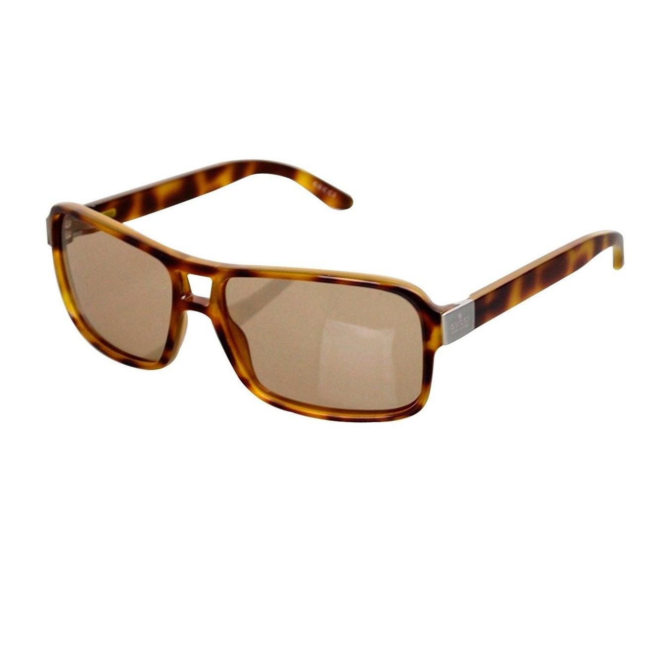 ebf4fc31822 Gucci Women s Designer Havana Acetate Metal Logo Sunglasses GG 1609 S A8LVG  - One size