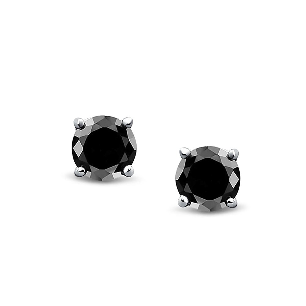 2d58eadbaf Shop Bling Jewelry Unisex Round Black CZ Stud earrings 925 Sterling Silver  6mm - On Sale - Free Shipping On Orders Over $45 - Overstock.com - 18037429