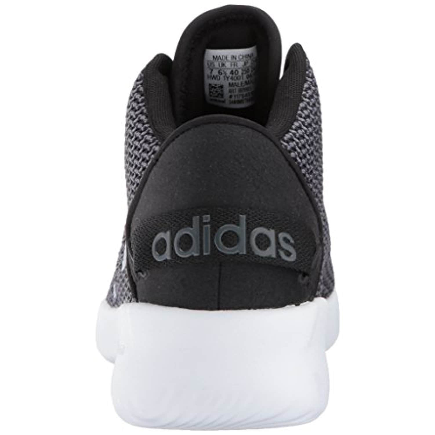 c305d027bd83 Shop adidas NEO Men s CF Refresh Mid Basketball Shoe - black white grey  five - Free Shipping Today - Overstock - 18275644