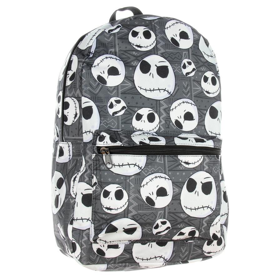 Shop Nightmare Before Christmas Backpack Jack Skellington Head Print ...