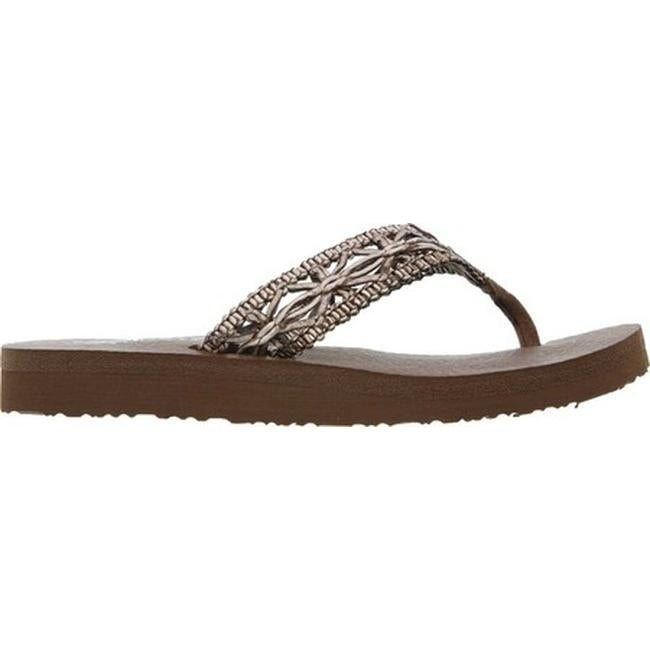 0b641bf4e0cb Shop Skechers Women s Meditation Ocean Breeze Thong Sandal Brown - On Sale  - Free Shipping On Orders Over  45 - Overstock - 11027524