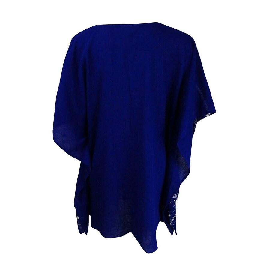 a163e3a07f Shop Trina Turk Women's Jakarta Caftan (Blue, S) - Blue - S - Free Shipping  Today - Overstock - 21531080