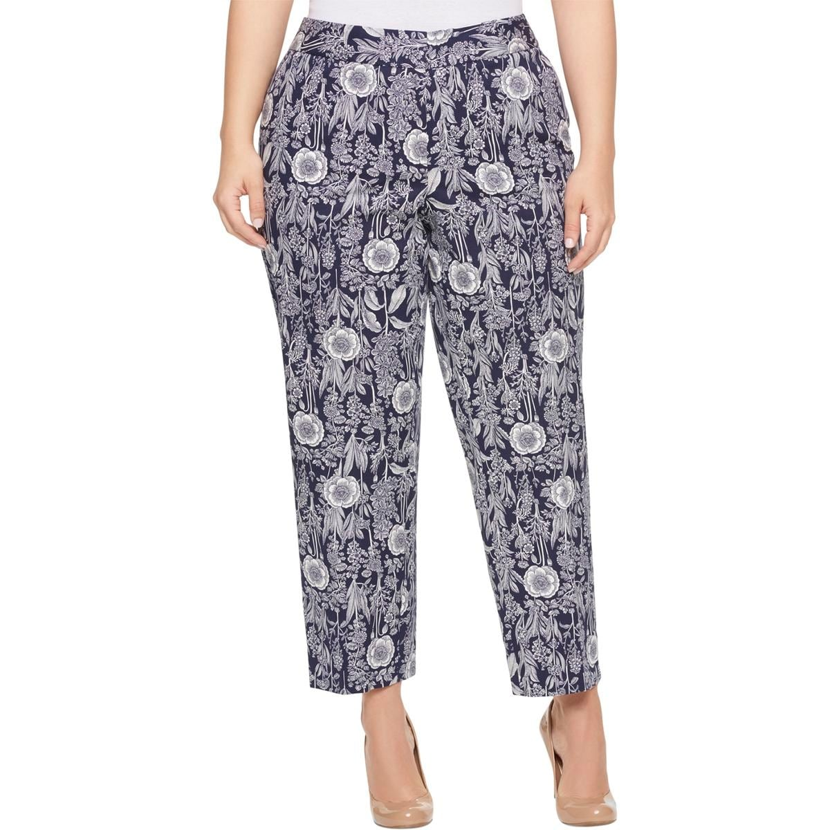 636b9915 Shop Tommy Hilfiger Womens Plus Cropped Pants Floral Print Casual - Free  Shipping On Orders Over $45 - Overstock.com - 21707820