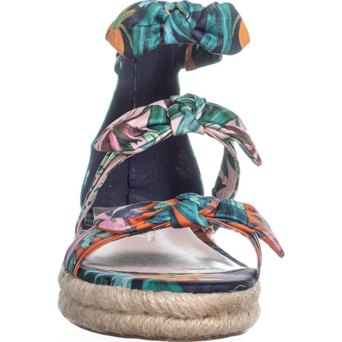 8634c2e0909 Nine West Allegro Bow Espadrilles Sandals, Navy Multi