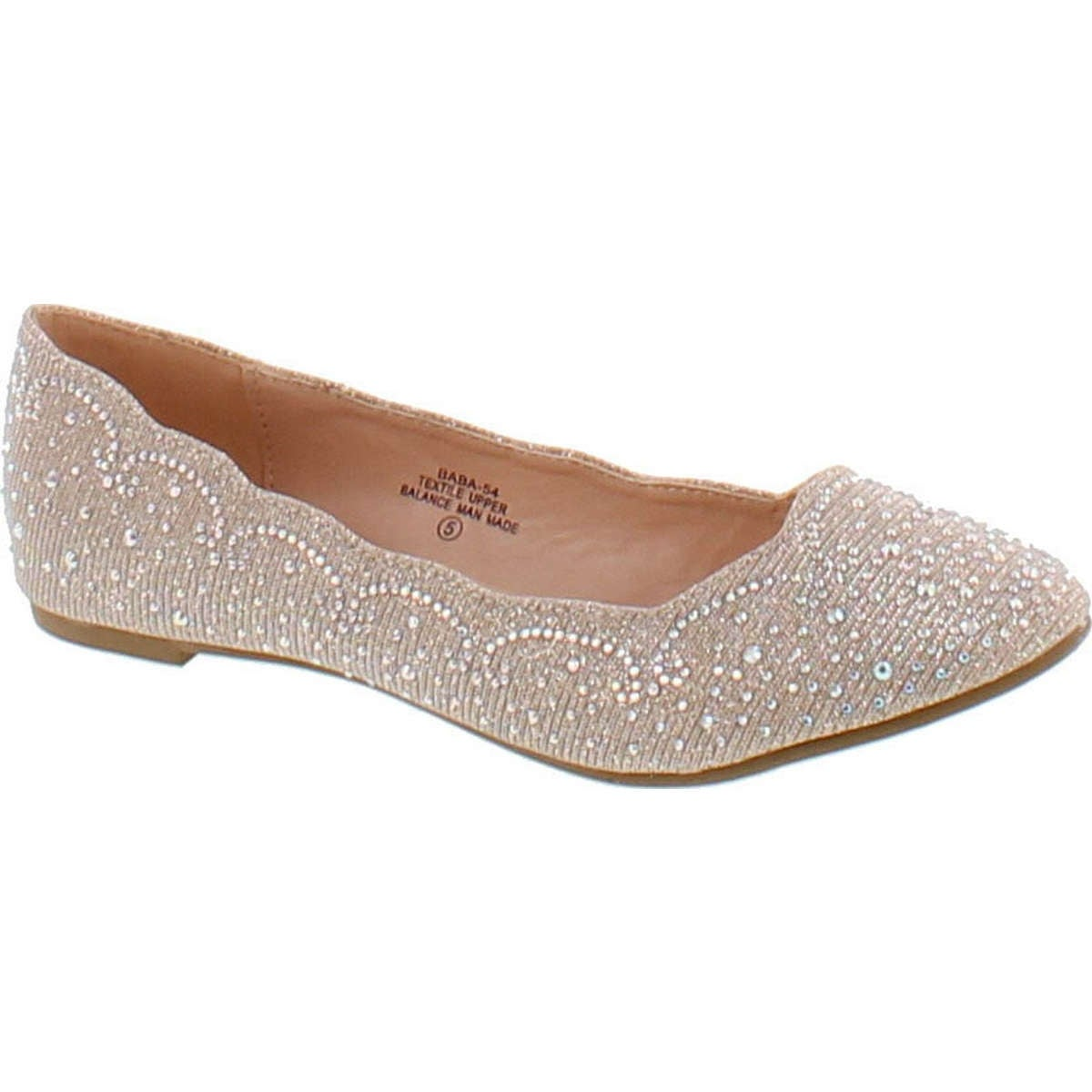 b2aea77dfae2 De Blossom Footwear Women s Baba-54 Sparkly Crystal Rhinestone Ballet Flats