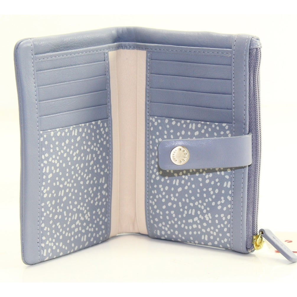 17b7228af8 Shop Radley London Gray Leather Larks Wood Tab Folded Bifold Wallet - Free  Shipping On Orders Over $45 - Overstock - 21951345
