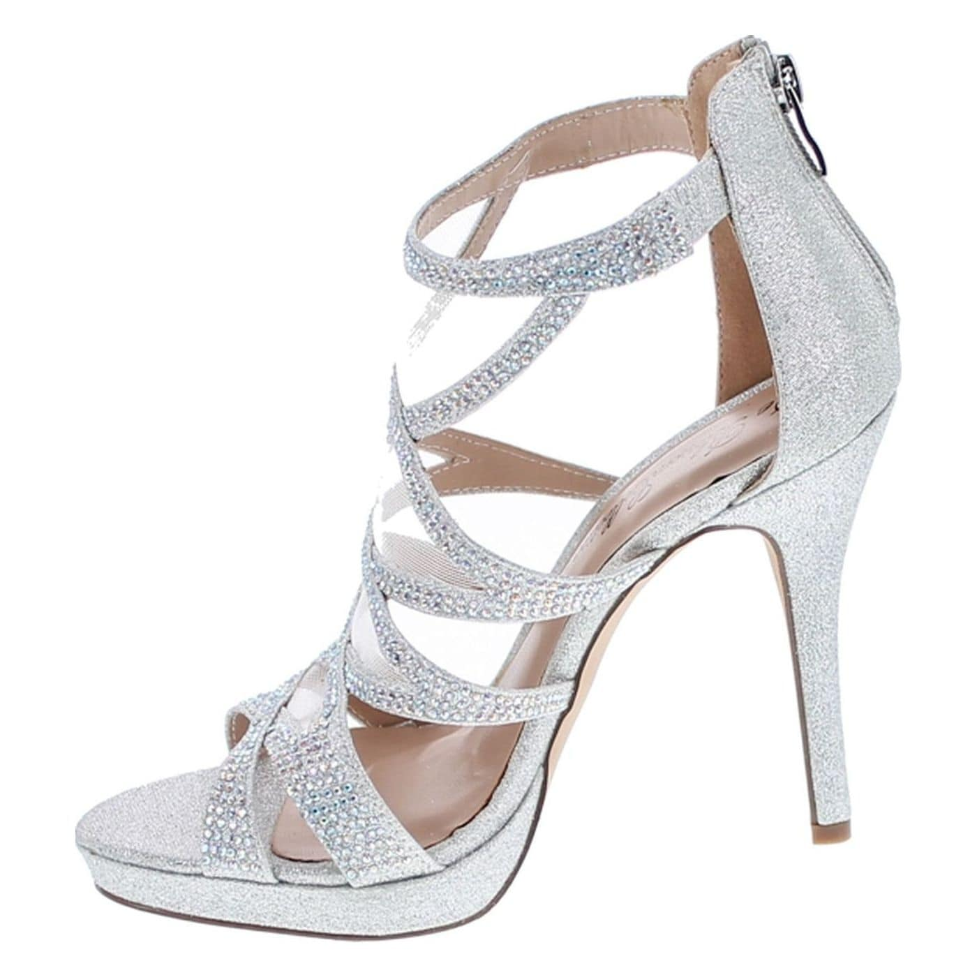 3e03e1549 Shop De Blossom Marna-28 Open Toe Sexy Stiletto High Heel Sandals For  Wedding Bridal Party Prom Dress - Silver - Free Shipping Today - Overstock  - 20908675