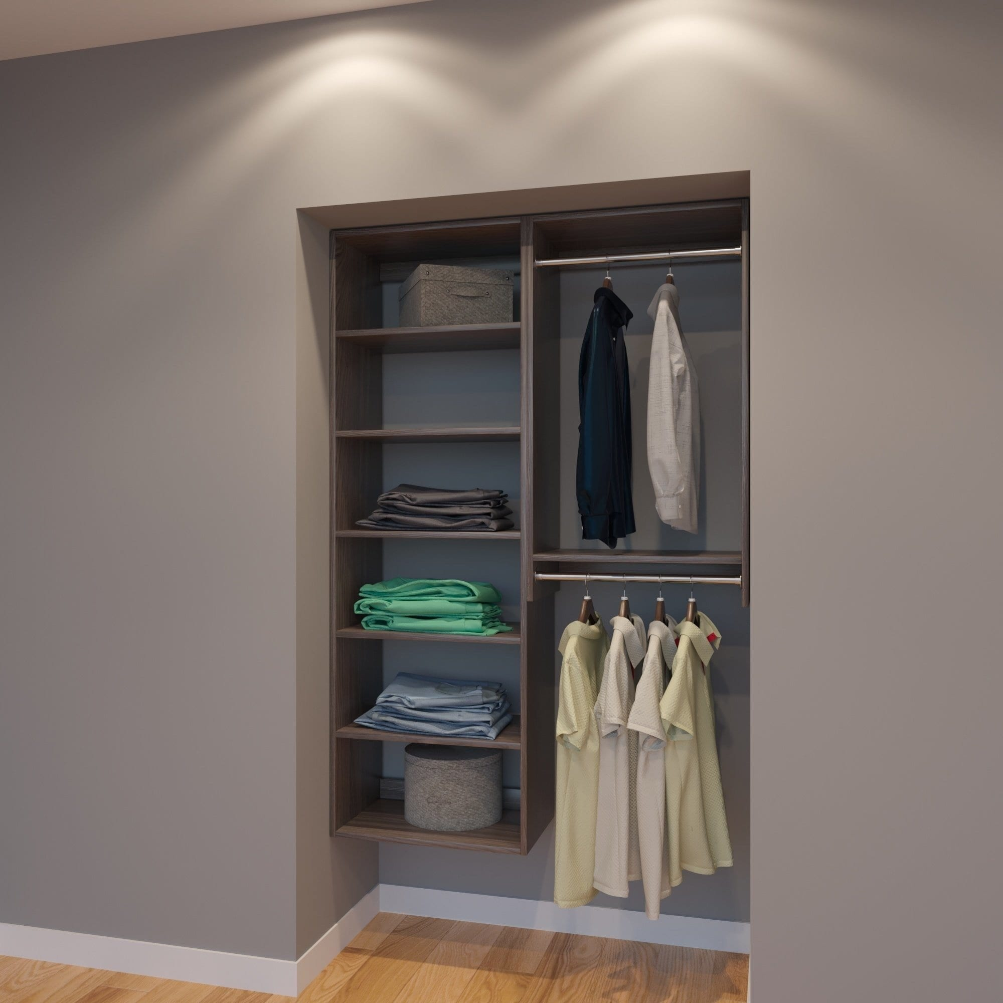 Modular Closets 4 Ft Closet Organizer System 48 Inch Style F Free Shipping Today 21706497