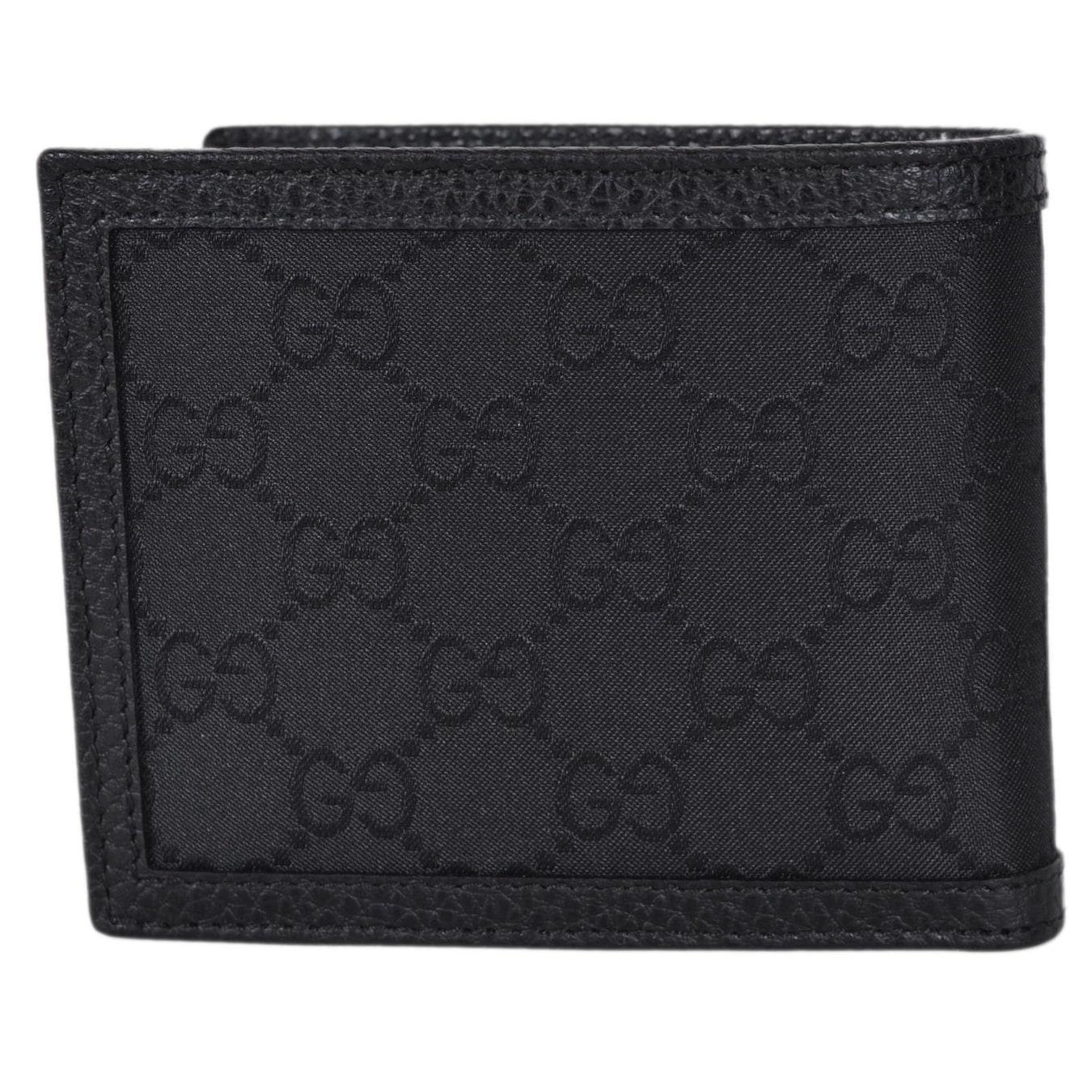 923b465fdb77 Shop Gucci Men's 260987 Black Nylon Web Detail GG Guccissima Bifold Wallet  - Free Shipping Today - Overstock - 22081351