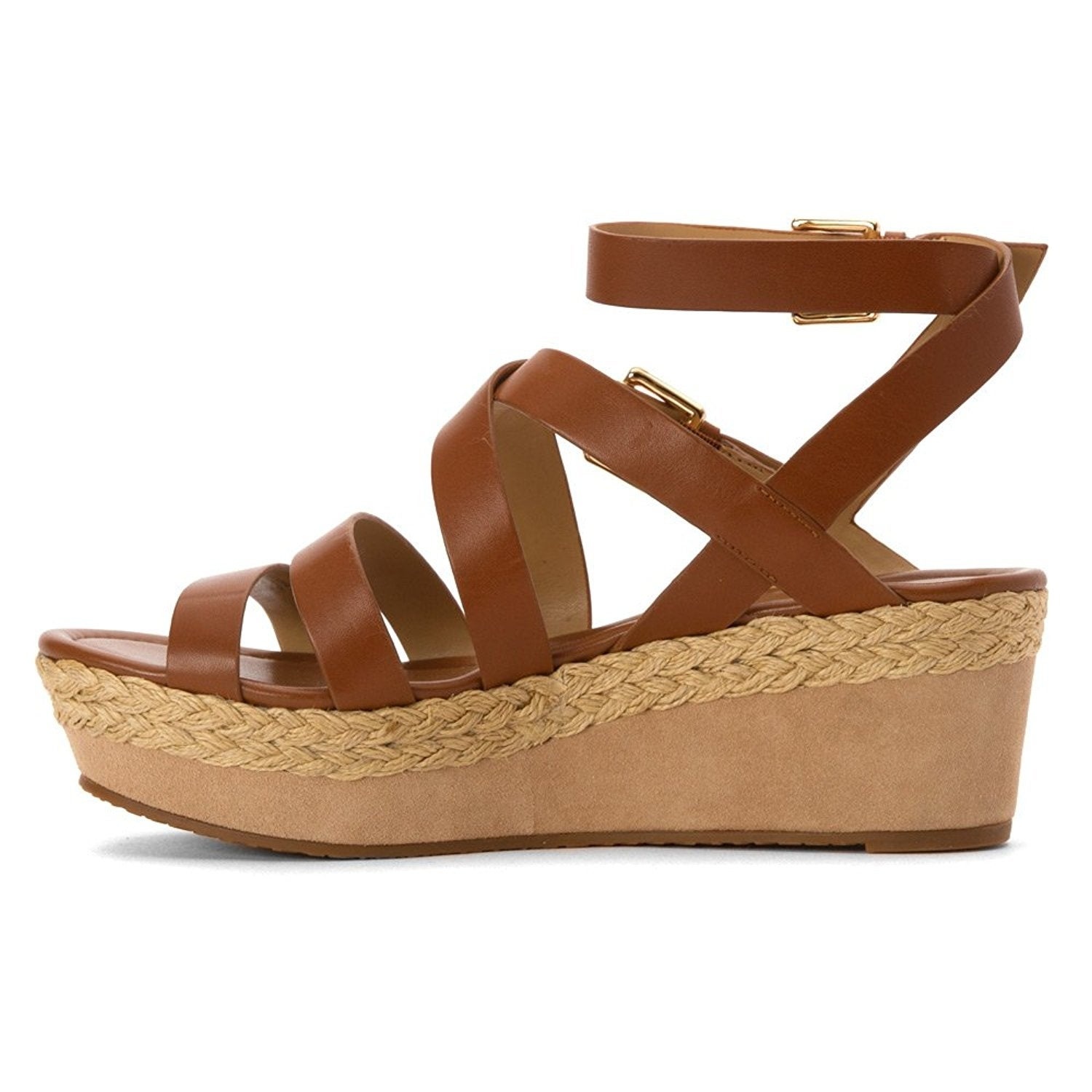 434a8806b25 Shop MICHAEL Michael Kors Womens Jocelyn Leather Open Toe Casual Platform  Sandals - Free Shipping Today - Overstock - 19848336