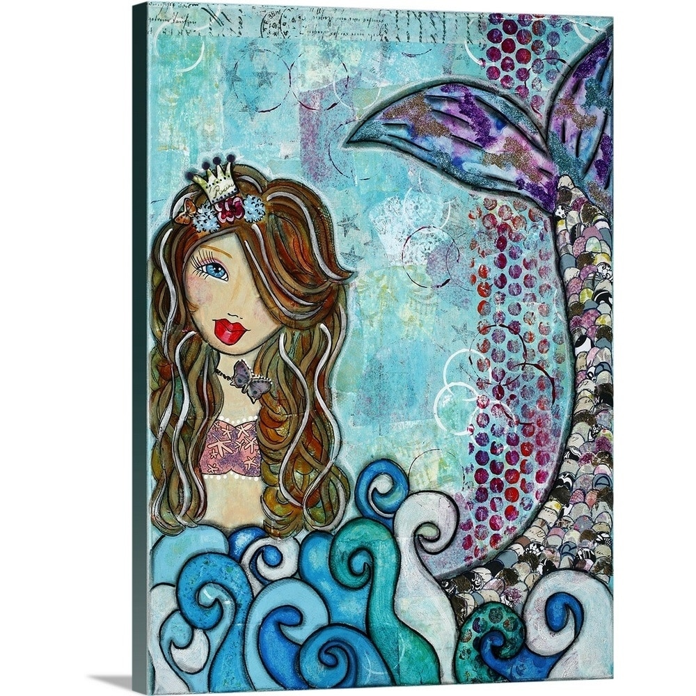 Shop Denise Braun Premium Thick-Wrap Canvas entitled Mermaid - Multi ...