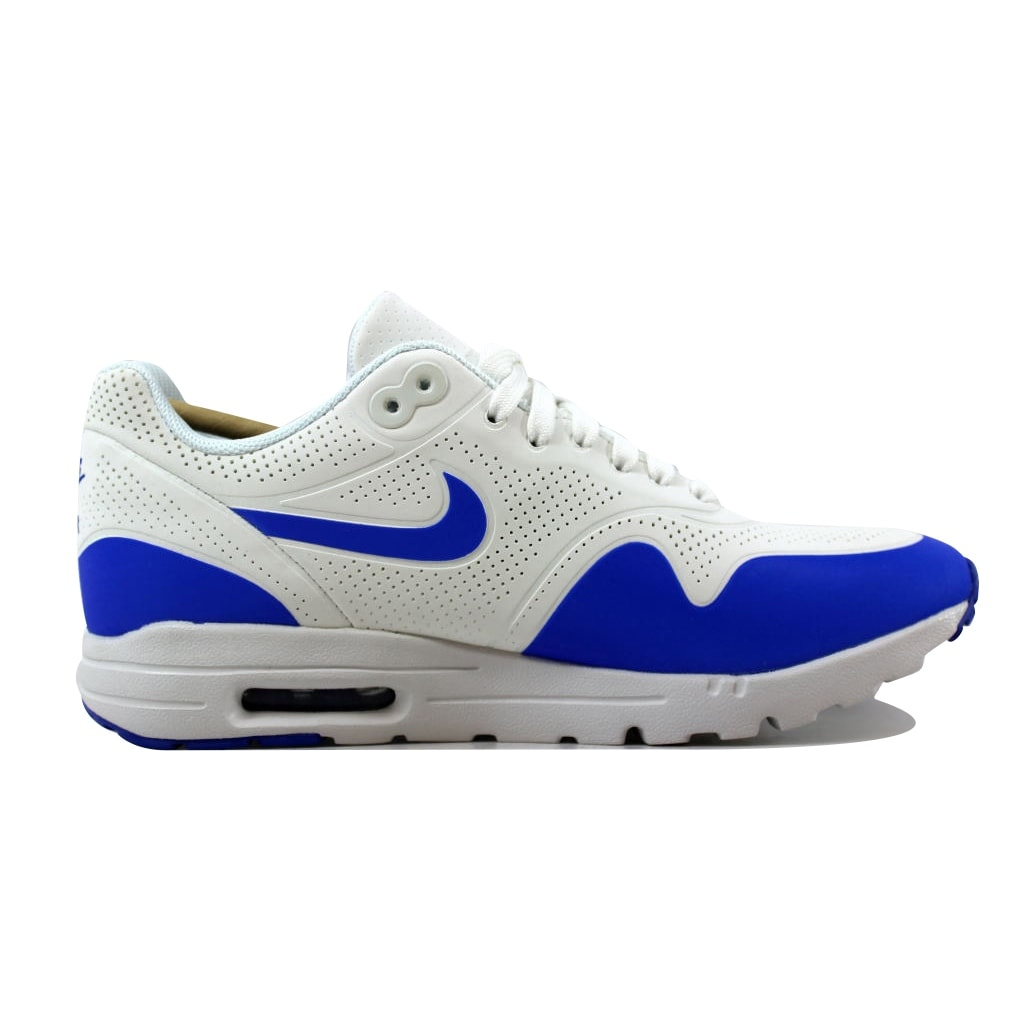 7cb4b35aa3b Shop Nike Women s Air Max 1 Ultra Moire Summit White Racer Blue-White704995- 100 - On Sale - Ships To Canada - Overstock - 21141570