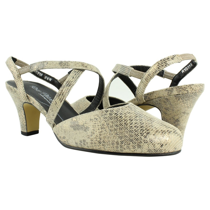 4f1d67e4ad Shop Rose Petals Womens R-10316 Taupe Slingbacks Size 8.5 (C,D,W) - On Sale  - Free Shipping On Orders Over $45 - Overstock - 23123960