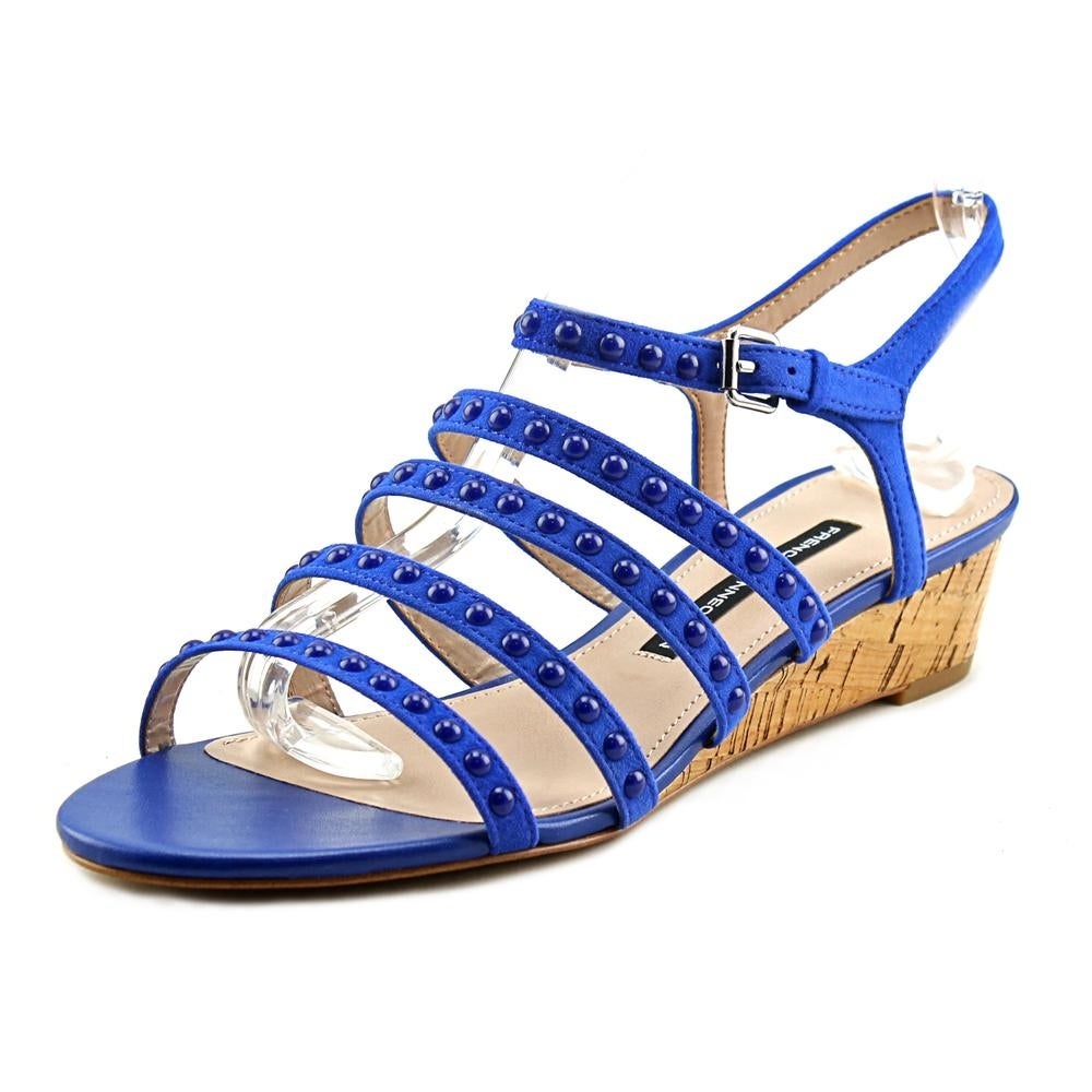 eb0ed44879ec Shop french connection winetta women open toe leather blue sandals jpg  1000x1000 Blue sandals