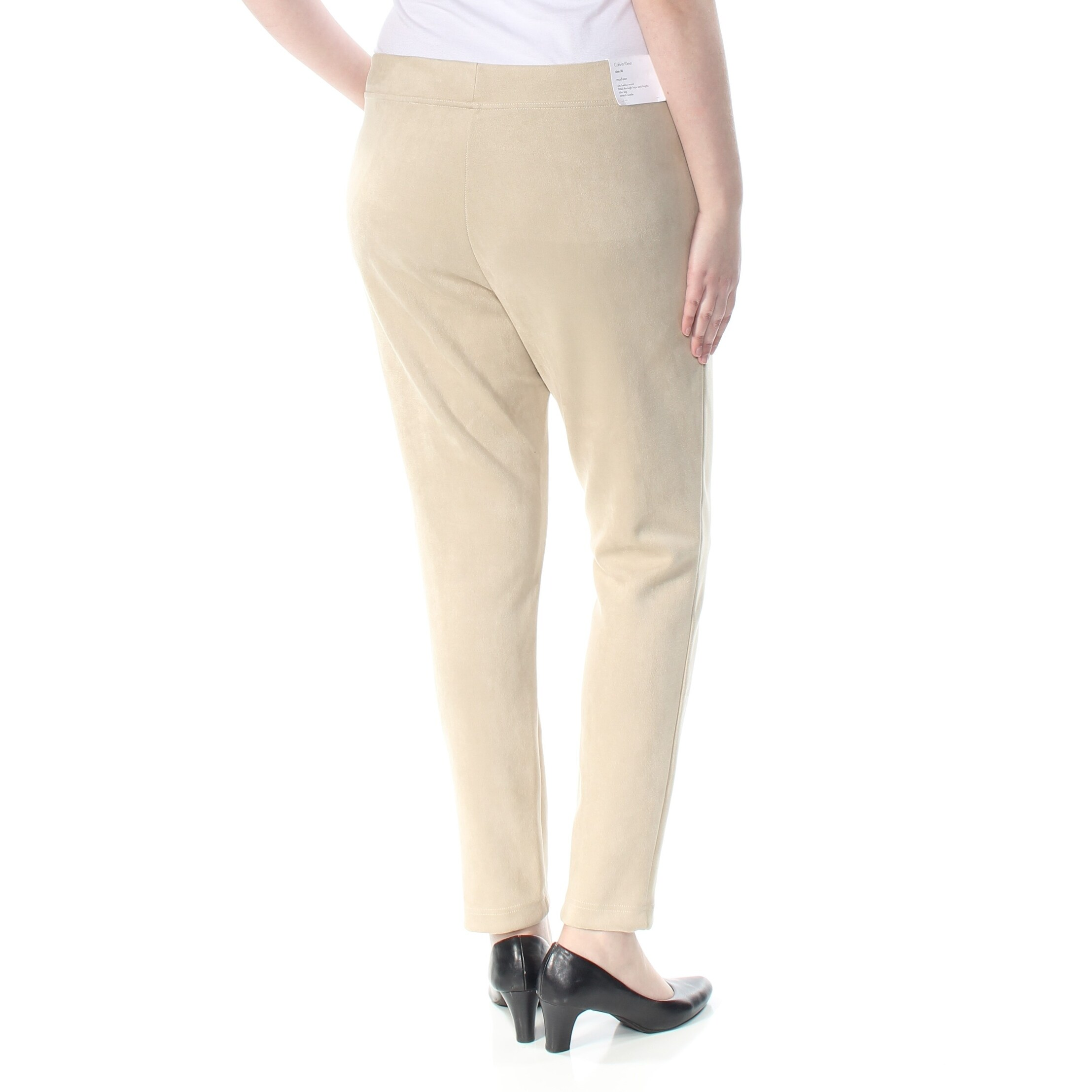 12f4e0f28ddf4e Shop CALVIN KLEIN Womens Beige Faux Suede Leggings Size: XL - Free Shipping  Today - Overstock - 28373287
