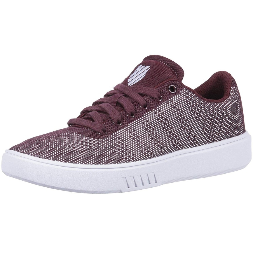 6bb4337edb3 K-Swiss Womens Court Addison Fabric Low Top Lace Up Fashion Sneakers