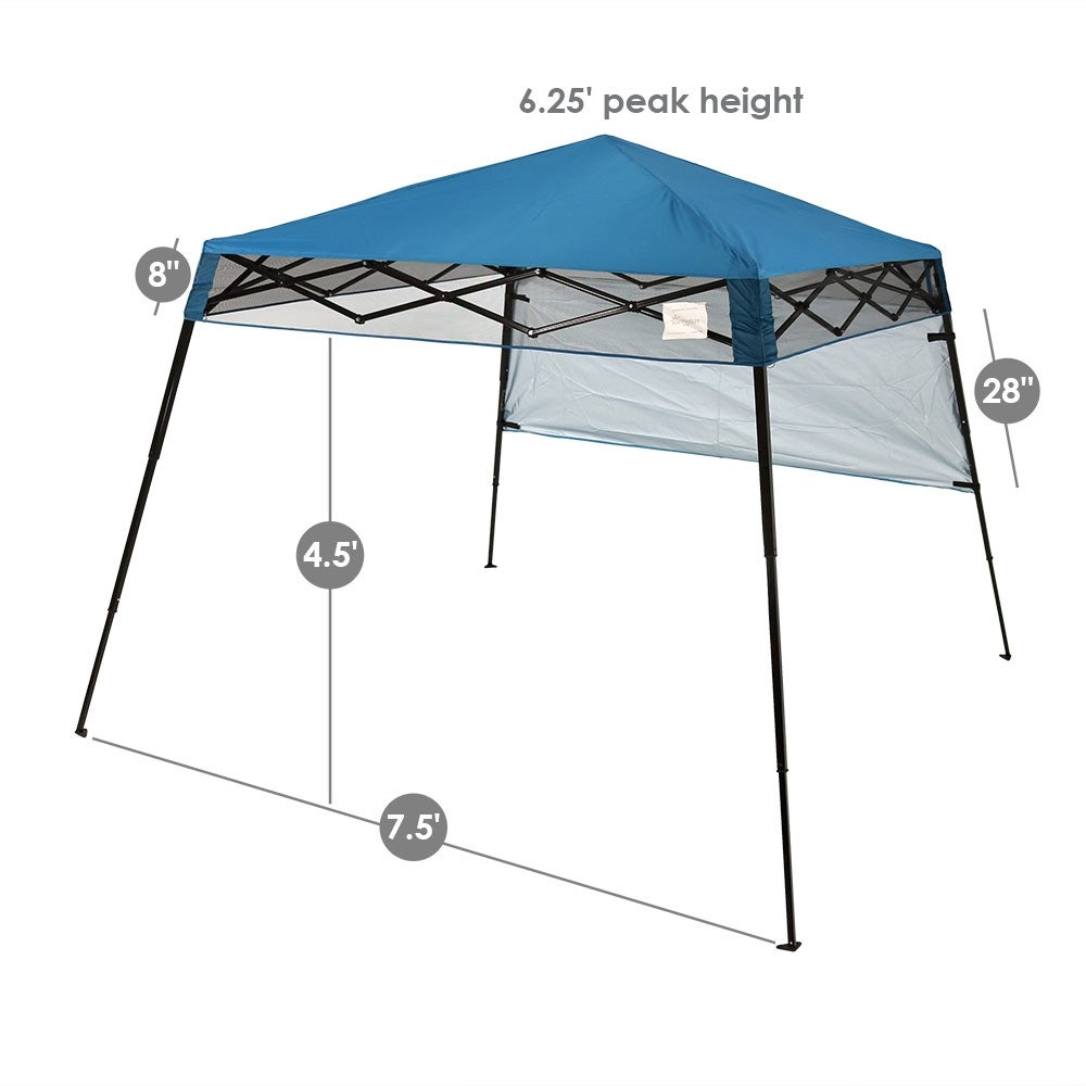 Sunnydaze Compact Quick-Up Slant Leg Instant Pop-Up Backpack Canopy Tent 7.5 x 7.5 Foot - Free Shipping Today - Overstock.com - 22554253  sc 1 st  Overstock.com & Sunnydaze Compact Quick-Up Slant Leg Instant Pop-Up Backpack ...