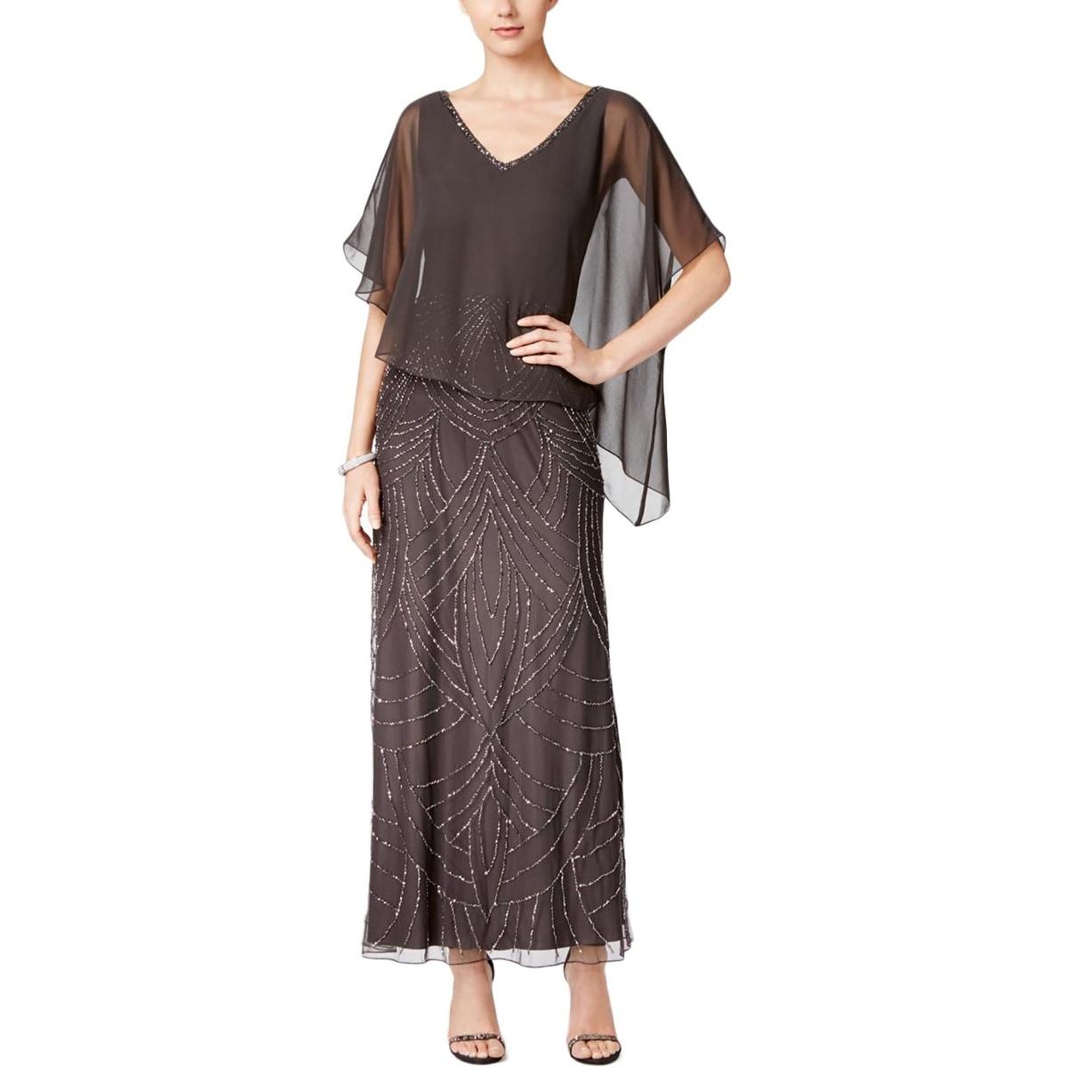 Shop J Kara Womens Evening Dress Chiffon Embellished - Free Shipping ...