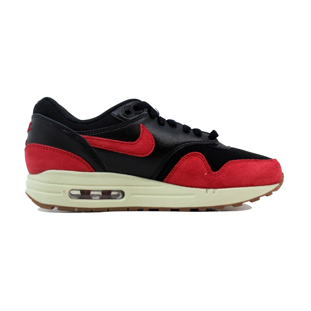 best website badfe 3cd22 Nike Air Max 1 Essential Black Gym Red-Sail-Gum Medium Brown 599820-018  Women s