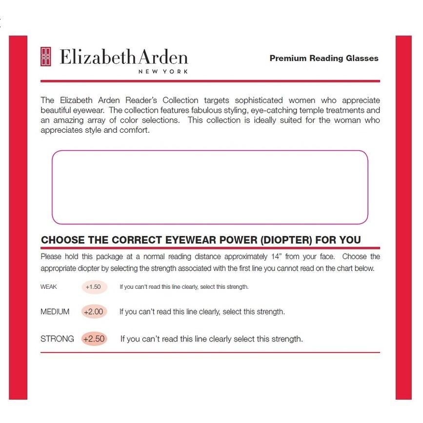 1c15051d981 Shop Elizabeth Arden Womens 2 Pack Plastic Reading Glasses +1.5 Brown Red  EA003