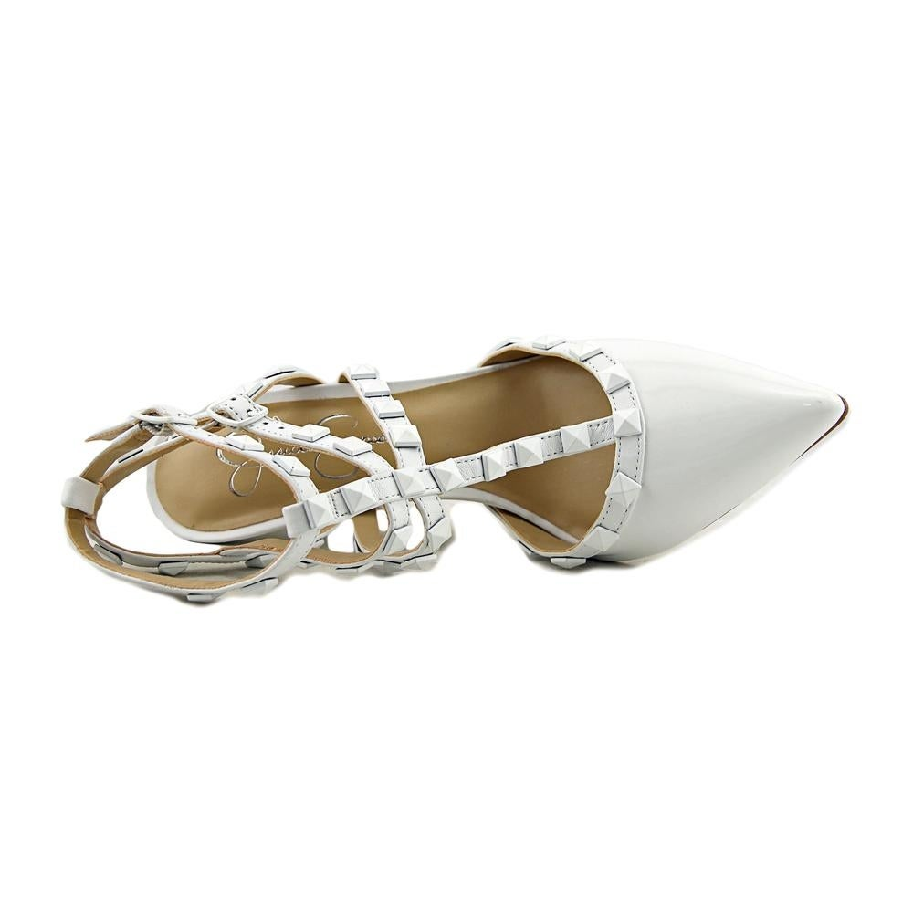 539f5968fb7b Shop Jessica Simpson Dameera Women Pointed Toe Leather White Slingback Heel  - Free Shipping Today - Overstock - 17982133