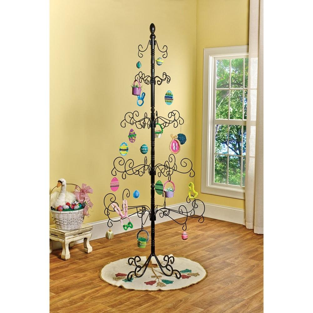Shop Wrought Iron Christmas Ornament Display Tree - 83\