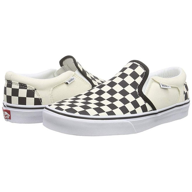 d6a4f6d8ea80 Shop Vans Mens Asher (Checkers) Shoes Black (Checkers) Black Size 12 - Free  Shipping Today - Overstock - 25367516