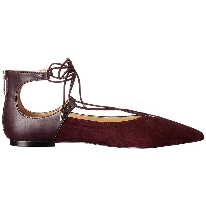 9042eeaf9 Shop Sam Edelman Womens Rosie Leather Pointed Toe Ankle Strap Slide Flats -  Free Shipping On Orders Over  45 - Overstock - 19874137