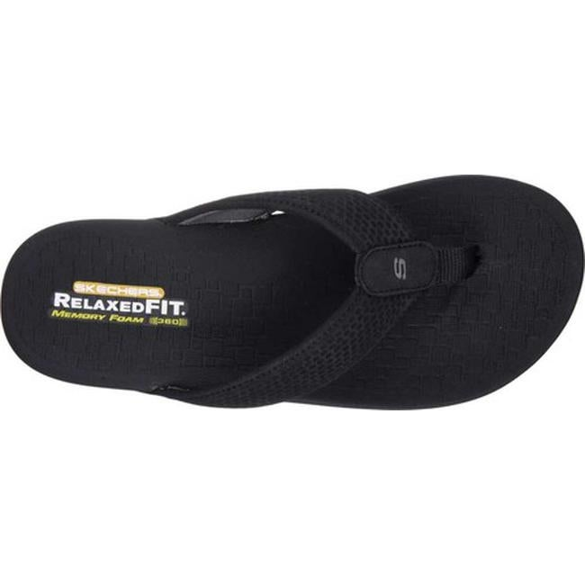 05ca6a36cfd9 Shop Skechers Men s Relaxed Fit Pelem Emiro Flip-Flop Black - On Sale -  Free Shipping On Orders Over  45 - Overstock - 14283901