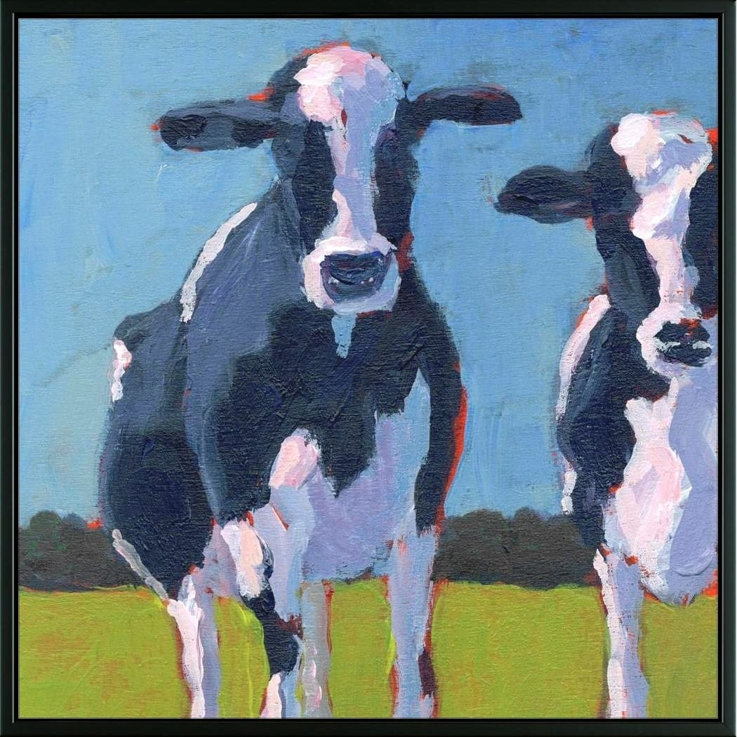 Easy Art Prints Carol Young's 'Cow Pals I' Premium Canvas Art