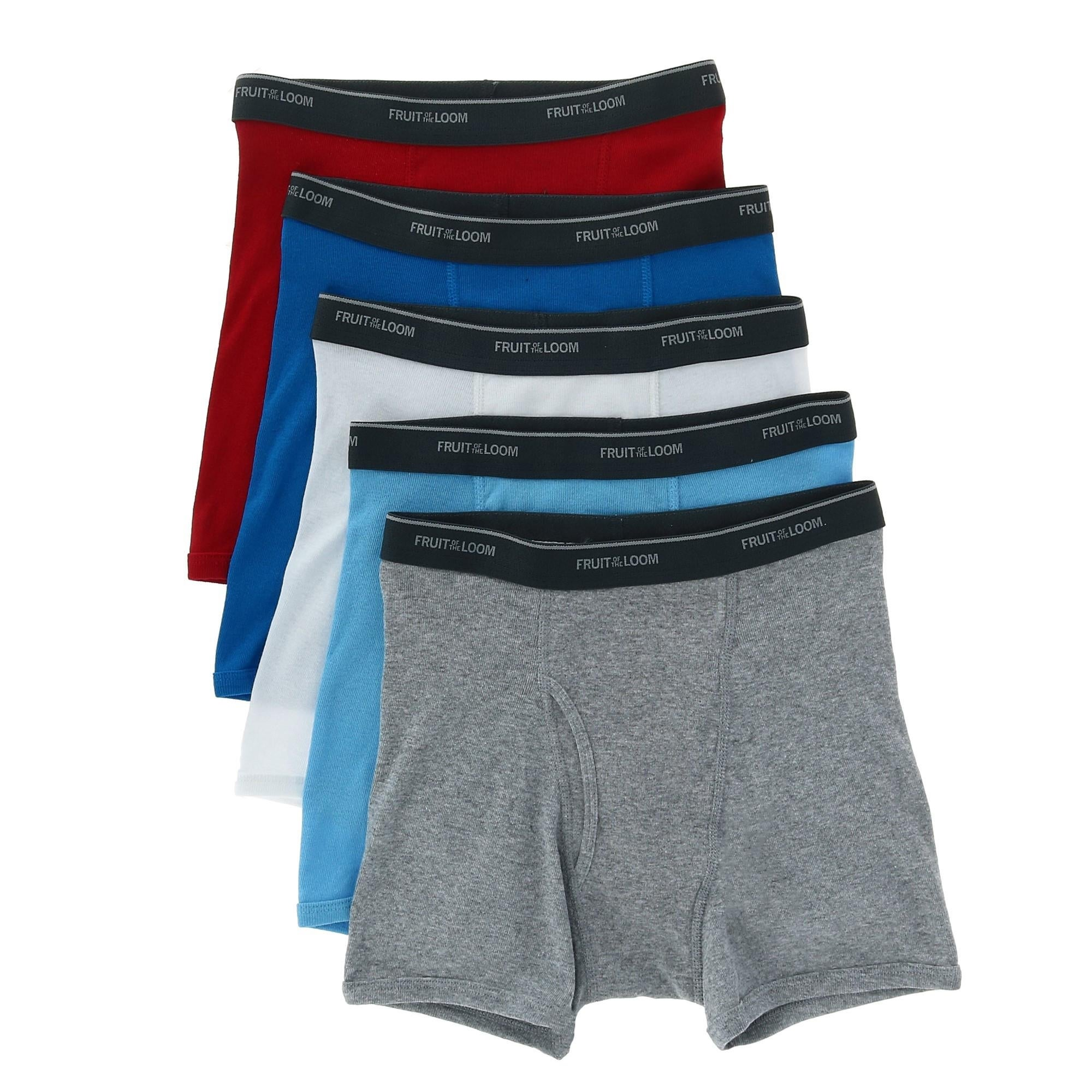 Fruit Of The Loom Boy S Cotton Boxer Brief Underwear Pack Of 5