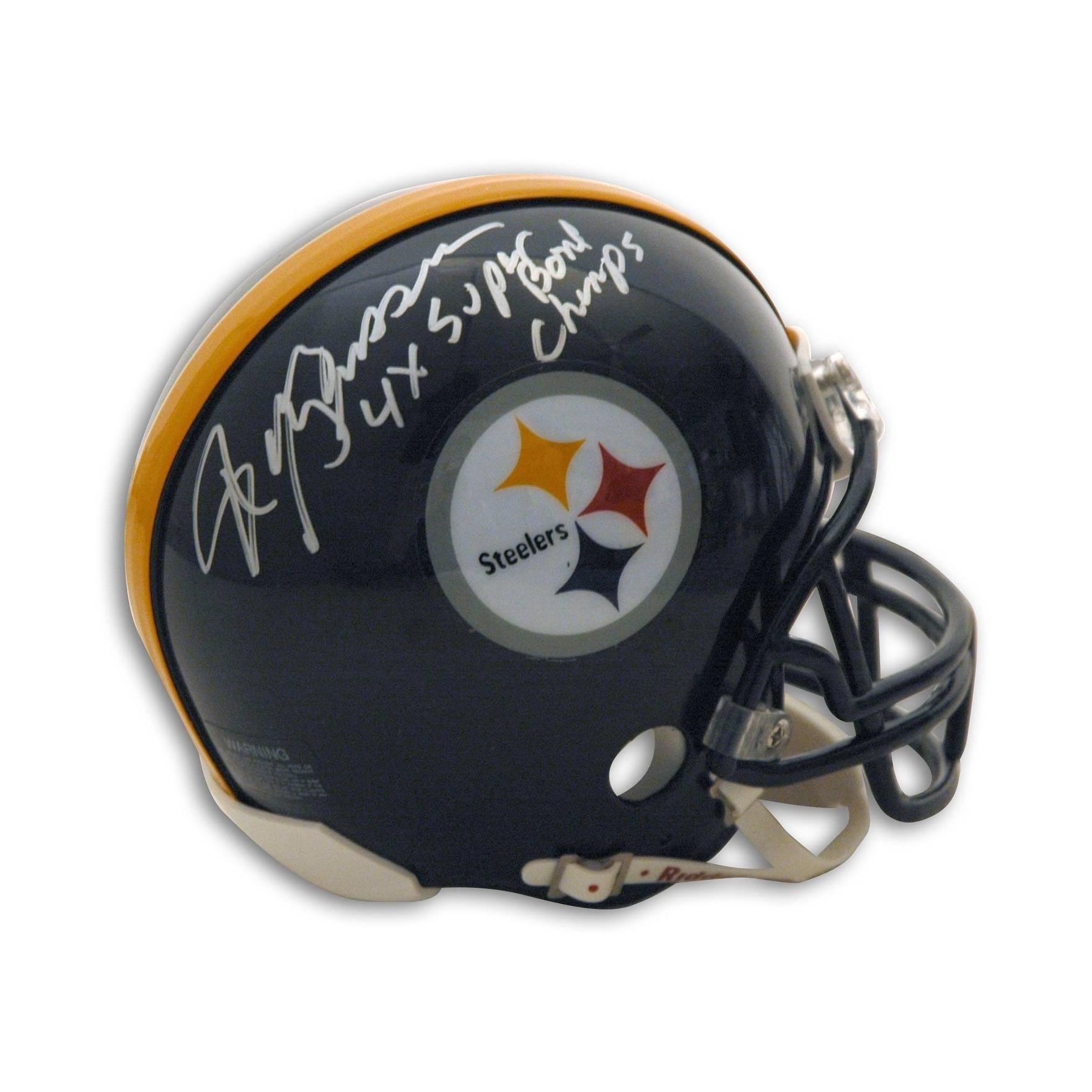 250aa8f682b Shop Randy Grossman Pittsburgh Steelers Autographed Mini Helmet Inscribed