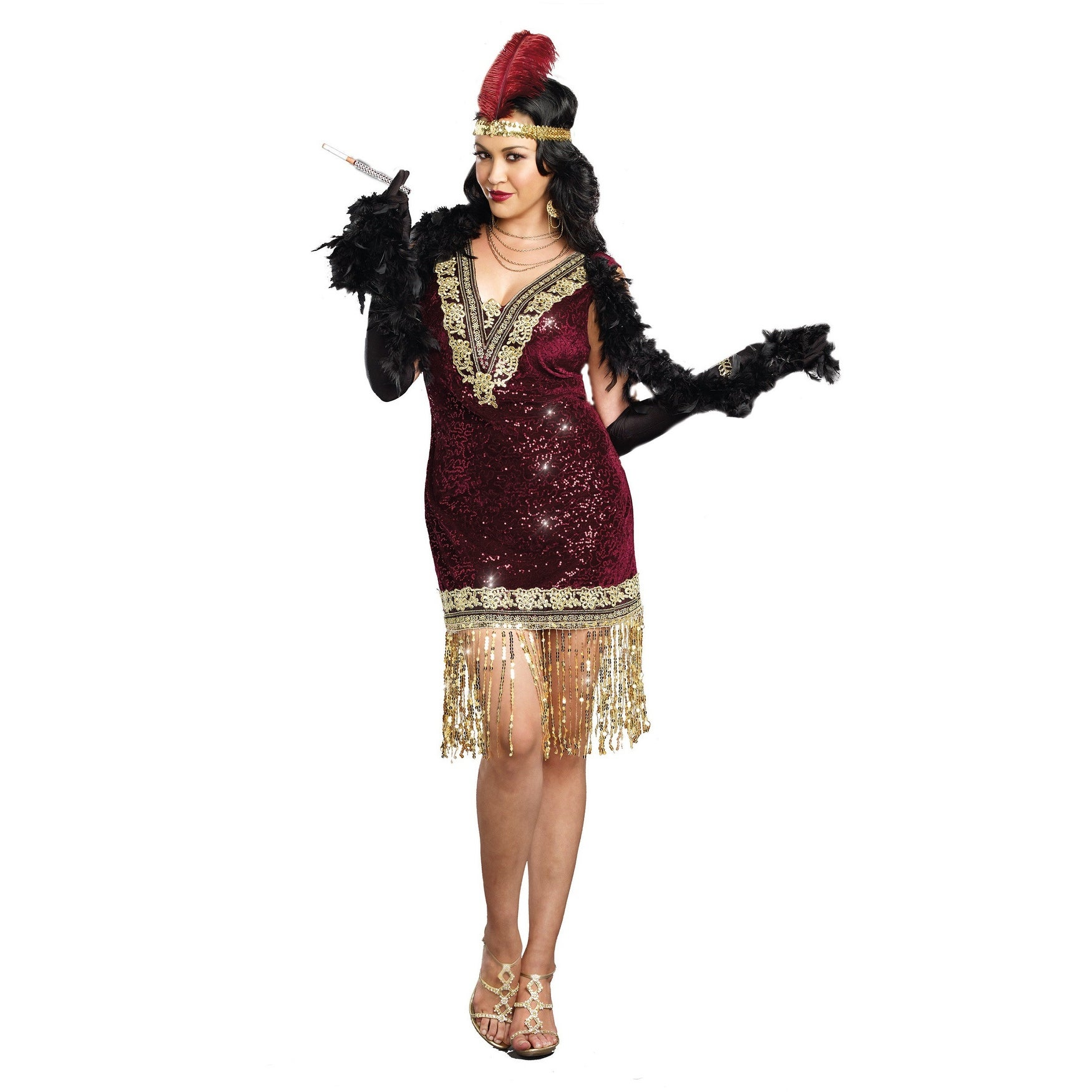 shop plus size sophisticated lady flapper dress - 3x/4x - free